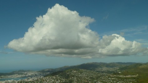 a giant cloud forming over wellington