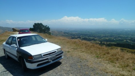 broken down car on te mata peak