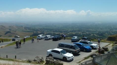 car park on top of te mata peak