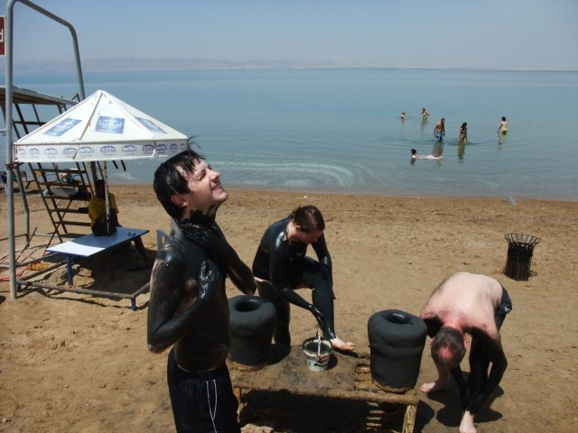 Get muddy at the Dead Sea, Jordan