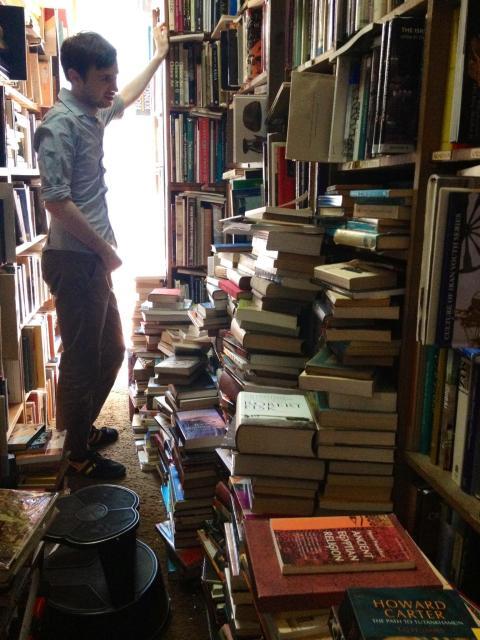 daniel in a vancouver bookstore