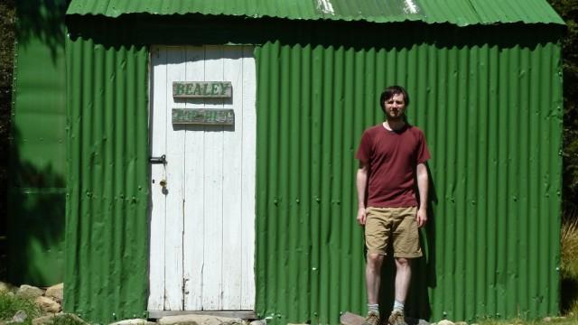 daniel outside bealey top hut