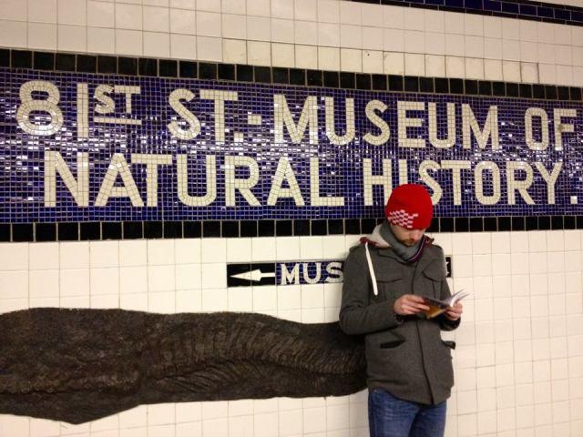 daniel standing in new york subway