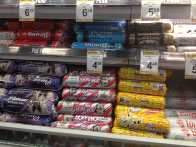 dog food rolls in new zealand supermarket