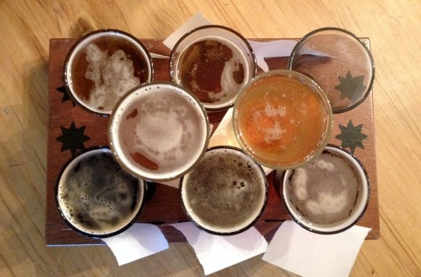 flight of beer from speights alehouse