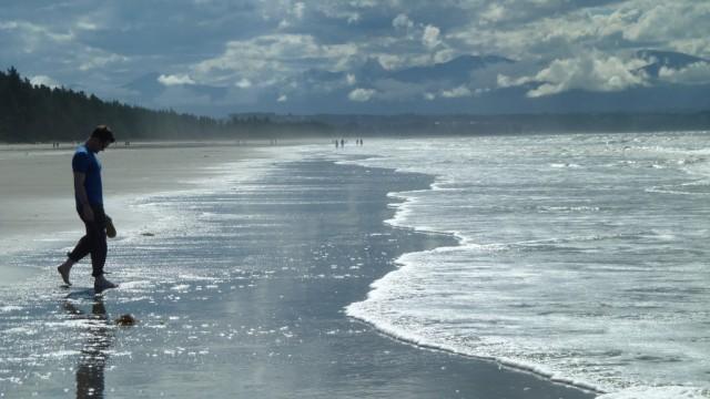 fraser on beach