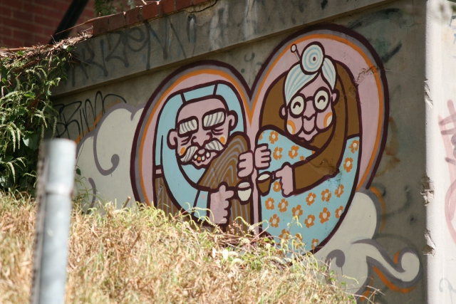 grandparent love graffiti