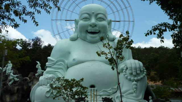happy buddha near dalat thailand
