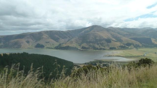 lake forsyth banks peninsula above