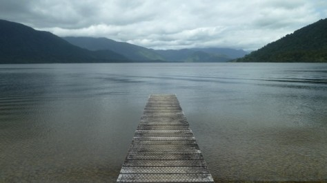 lake kaniere in hokitika from jetty