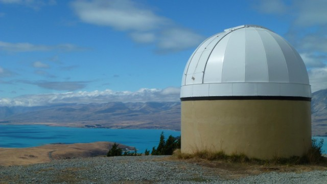 telescope on top of mount john