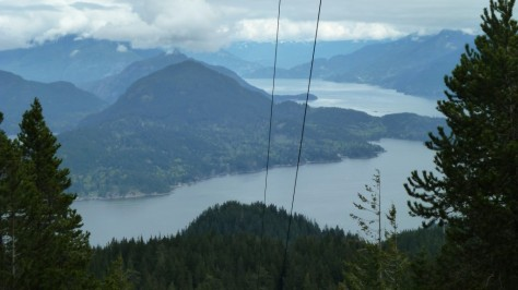 view from mt gardner bowen island