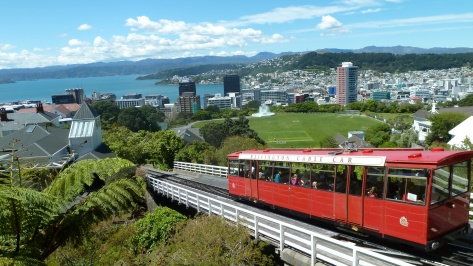 The Wellington, New Zealand cable car.