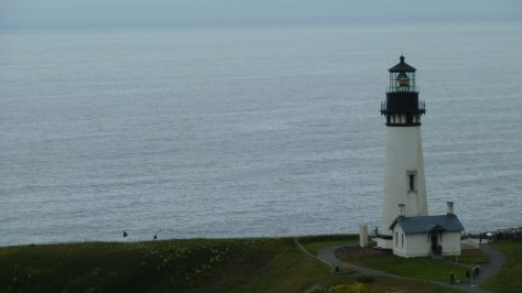 yaquina head lighthouse near newport oregon